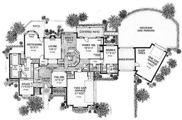 European Floor Plan - Main Floor Plan Plan #310-628