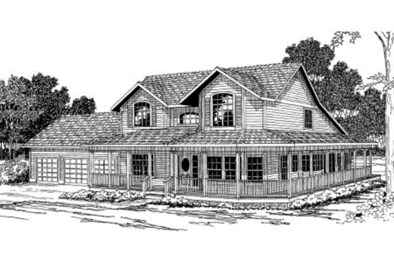 Victorian Exterior - Front Elevation Plan #124-268