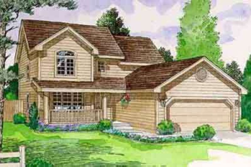Traditional Style House Plan - 3 Beds 3 Baths 1783 Sq/Ft Plan #116-182 Exterior - Front Elevation