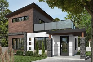 Home Plan Design - Contemporary Exterior - Front Elevation Plan #23-2297