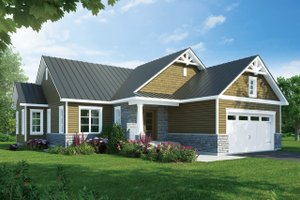 Ranch Exterior - Front Elevation Plan #23-2656