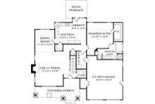 Craftsman Floor Plan - Main Floor Plan Plan #453-10