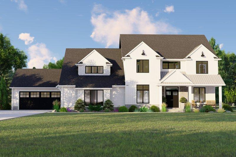 House Design - Farmhouse Exterior - Front Elevation Plan #1064-113