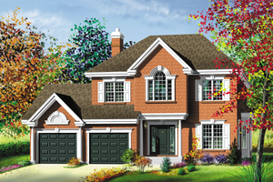 Traditional Exterior - Front Elevation Plan #25-219