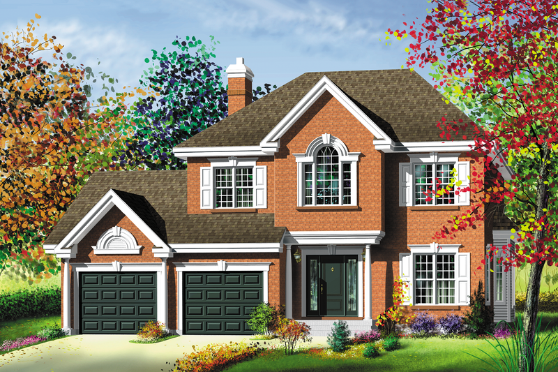 Traditional Style House Plan - 3 Beds 1.5 Baths 2462 Sq/Ft Plan #25-219 Exterior - Front Elevation