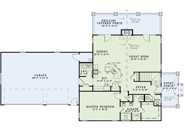 Craftsman Floor Plan - Main Floor Plan Plan #17-2399