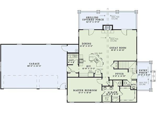 Craftsman Floor Plan - Main Floor Plan #17-2399