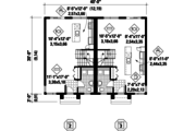 Contemporary Style House Plan - 5 Beds 2 Baths 2421 Sq/Ft Plan #25-4378 Floor Plan - Main Floor Plan