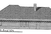 Traditional Style House Plan - 3 Beds 2.5 Baths 1801 Sq/Ft Plan #70-207 Exterior - Rear Elevation