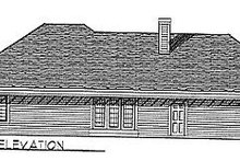 Dream House Plan - Traditional Exterior - Rear Elevation Plan #70-207