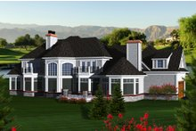 Dream House Plan - European Exterior - Rear Elevation Plan #70-1145