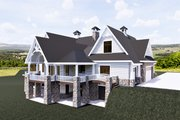 Craftsman Style House Plan - 3 Beds 3.5 Baths 4755 Sq/Ft Plan #920-111 Exterior - Other Elevation
