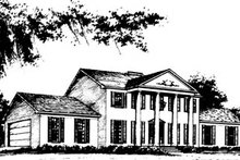 Classical Exterior - Front Elevation Plan #10-264