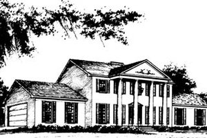 Architectural House Design - Classical Exterior - Front Elevation Plan #10-264