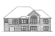 European Style House Plan - 3 Beds 2 Baths 3085 Sq/Ft Plan #31-111 Exterior - Rear Elevation