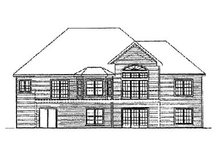European Exterior - Rear Elevation Plan #31-111