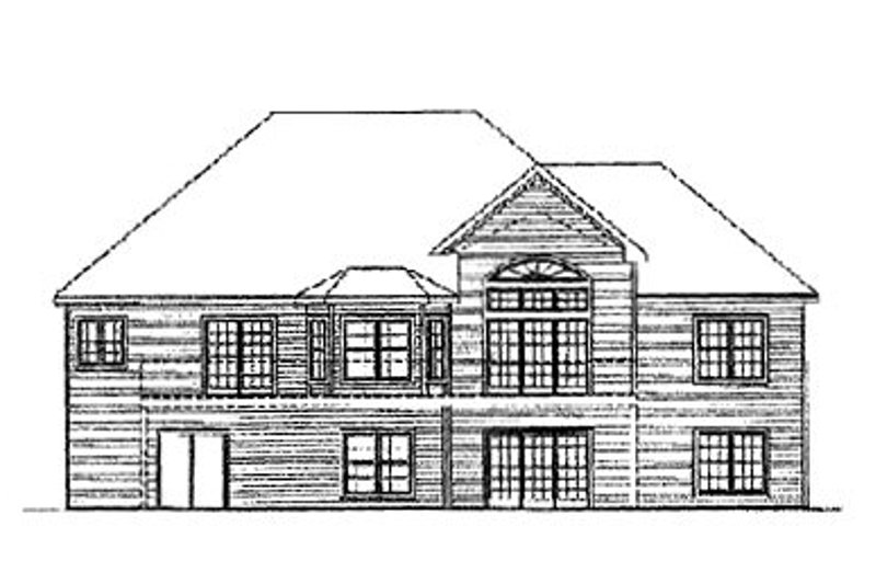 European Exterior - Rear Elevation Plan #31-111 - Houseplans.com