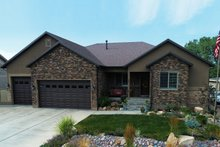 Ranch Exterior - Front Elevation Plan #1060-43