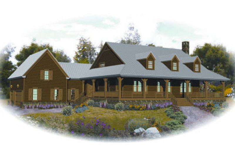 Country Style House Plan - 3 Beds 2.5 Baths 3968 Sq/Ft Plan #81-13910 Photo