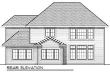 Dream House Plan - Traditional Exterior - Rear Elevation Plan #70-724