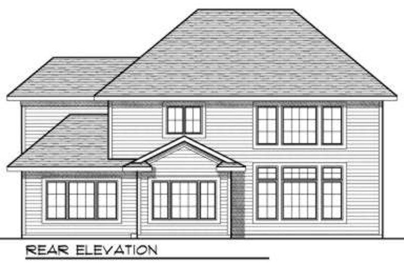 Traditional Exterior - Rear Elevation Plan #70-724 - Houseplans.com