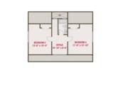Craftsman Style House Plan - 3 Beds 2.5 Baths 1664 Sq/Ft Plan #461-64 Floor Plan - Upper Floor Plan