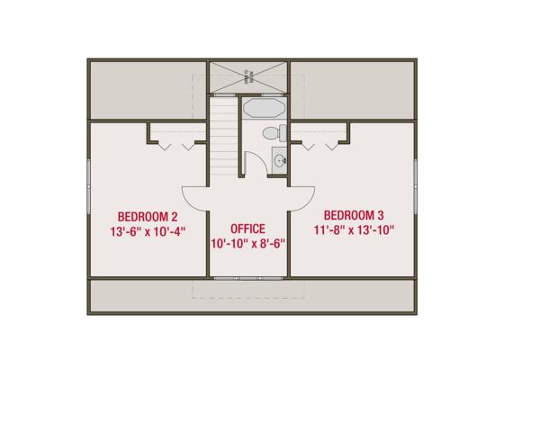 Craftsman Floor Plan - Upper Floor Plan Plan #461-64