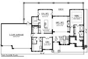 Craftsman Style House Plan - 4 Beds 3.5 Baths 3392 Sq/Ft Plan #70-1287 Floor Plan - Main Floor Plan