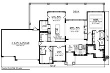 Craftsman Floor Plan - Main Floor Plan Plan #70-1287