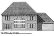 Traditional Style House Plan - 3 Beds 2.5 Baths 2592 Sq/Ft Plan #70-415 Exterior - Rear Elevation
