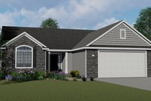 Ranch Exterior - Front Elevation Plan #1064-4