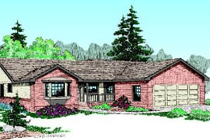 Ranch Exterior - Front Elevation Plan #60-187