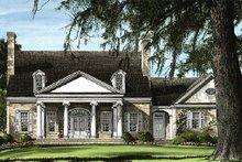 House Design - Southern Exterior - Front Elevation Plan #137-102
