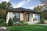 Contemporary Style House Plan - 2 Beds 1 Baths 1081 Sq/Ft Plan #25-4453 Exterior - Front Elevation