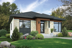 Contemporary Exterior - Front Elevation Plan #25-4453