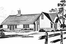 Country Exterior - Front Elevation Plan #36-379