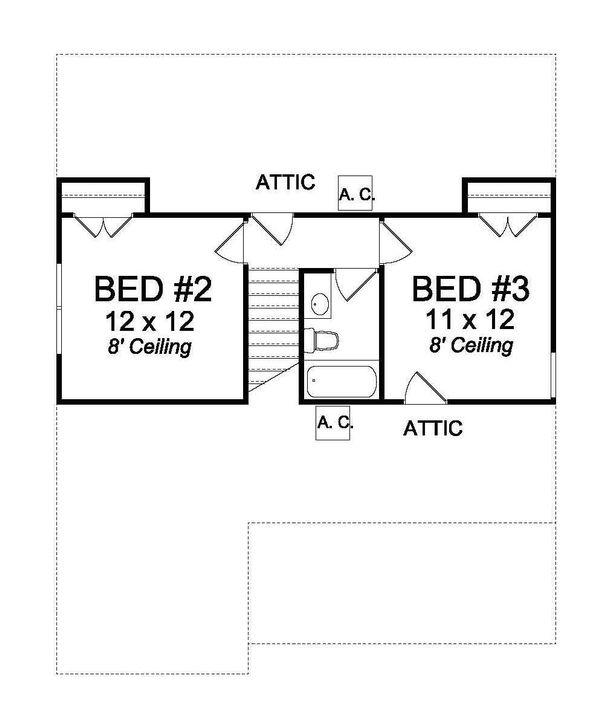Cottage Floor Plan - Upper Floor Plan #513-2076