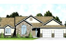 Dream House Plan - Mediterranean Exterior - Front Elevation Plan #58-212