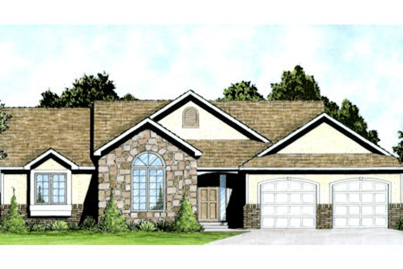 Mediterranean Exterior - Front Elevation Plan #58-212