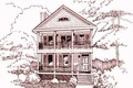 Bungalow Style House Plan - 3 Beds 2.5 Baths 1523 Sq/Ft Plan #79-213 Exterior - Front Elevation