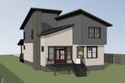 Modern Style House Plan - 3 Beds 2.5 Baths 1917 Sq/Ft Plan #79-300 Exterior - Rear Elevation