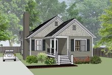 Cottage Exterior - Front Elevation Plan #79-135