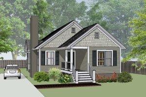 Cottage Exterior - Front Elevation Plan #79-135