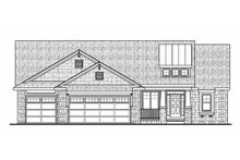 Architectural House Design - Craftsman Exterior - Front Elevation Plan #20-2179