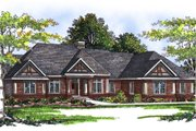 Traditional Style House Plan - 2 Beds 2.5 Baths 2121 Sq/Ft Plan #70-309 Exterior - Front Elevation