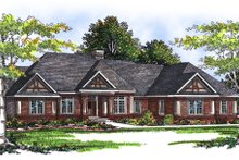 Dream House Plan - Traditional Exterior - Front Elevation Plan #70-309