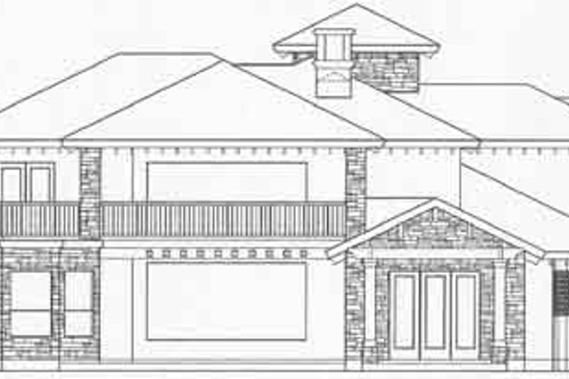 European Exterior - Rear Elevation Plan #61-259 - Houseplans.com