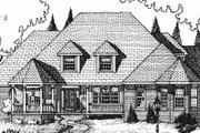 Traditional Style House Plan - 4 Beds 3.5 Baths 3437 Sq/Ft Plan #20-1129 Exterior - Front Elevation