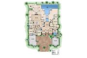 European Style House Plan - 4 Beds 4.75 Baths 5377 Sq/Ft Plan #27-455 Floor Plan - Main Floor