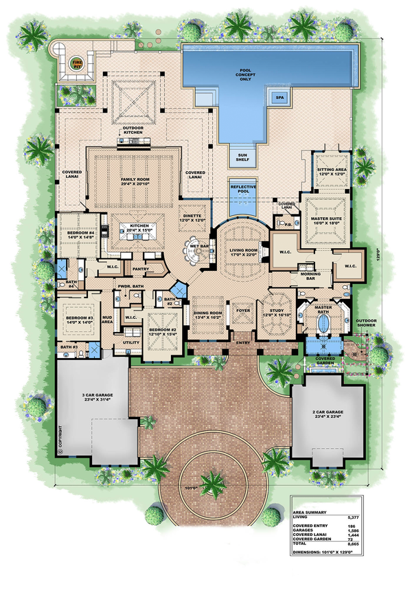European Floor Plan - Main Floor Plan Plan #27-455